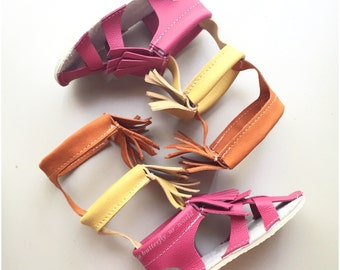 Roman Girls Gladiators Sandals made from genuine leather, baby moccasins, Mary Janes baby girl sandals