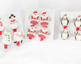 Christmas Character Mini Pegs