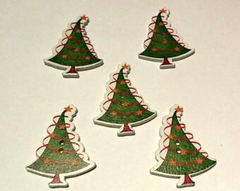 5 Christmas Trees - #C00010
