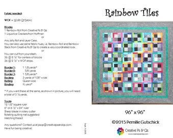 Rainbow Tiles - Quilting Pattern