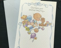 Precious Moments Baby Boy Birth Greeting Card.