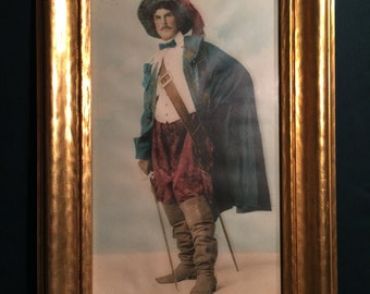 Three Muskateer Portrait Unsigned; Measures 11x16 in the frame; Color portrait of a Muskateer;