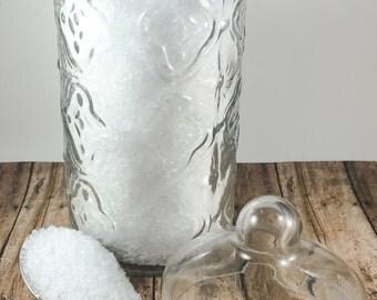 Gardenia Bath Salt, Floral Bath Salt, Handmade Bath Salt, Detox Bath Salt, Epsom Salt Bath Soak, Vegan Bath Salt, 16oz Bag