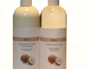 Organic Coconut Oil 92 Degree 100% pure coconut oil extracted from coconut meat from 4 fl.oz up to 7 lbs