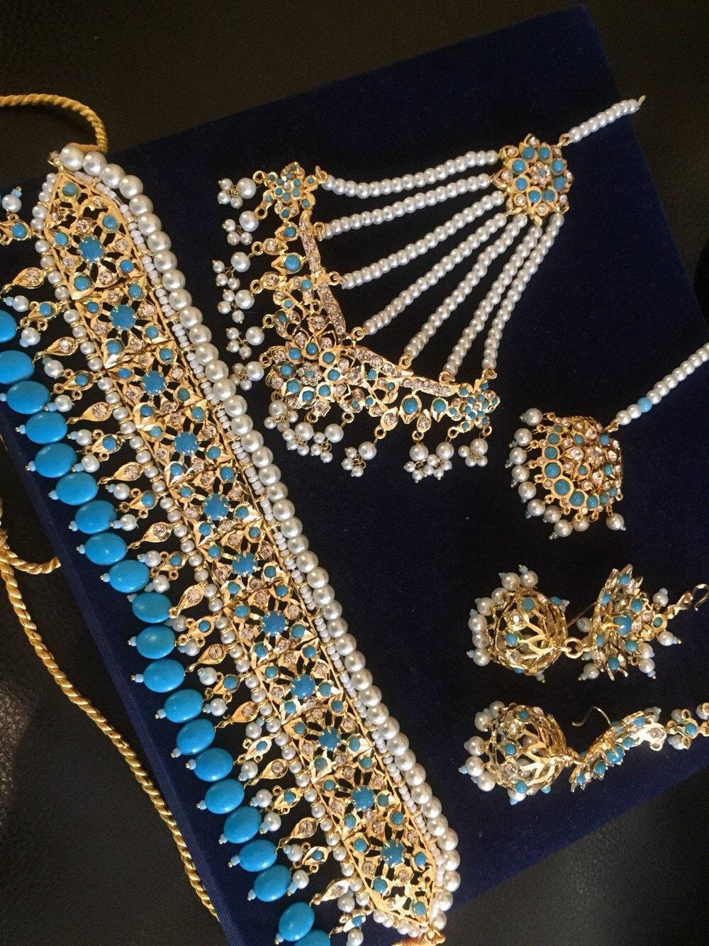 Hyderabadi Indian Choker Set Wedding Jewelry Indian