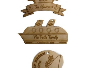 Wooden Ornaments, cruise ship, disney cruise gifts, Christmas ornament