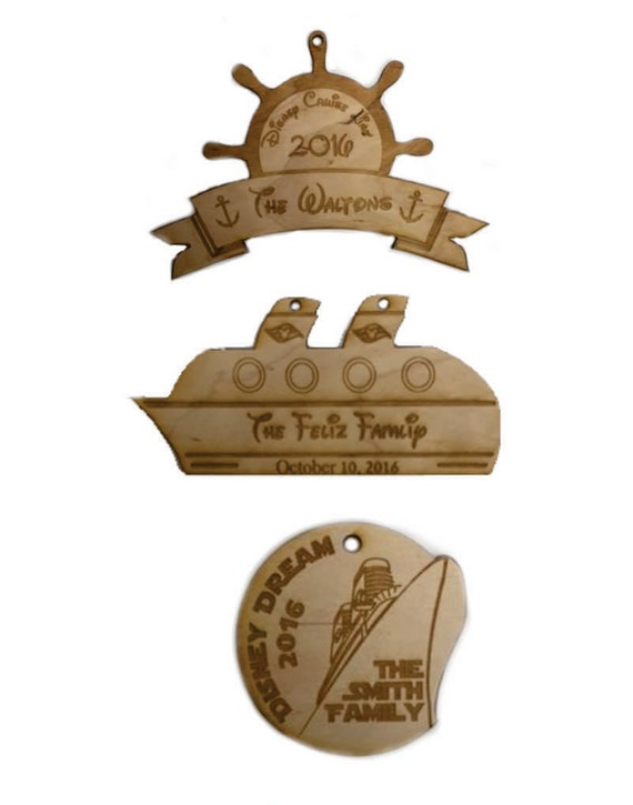 Wooden Ornaments Cruise Ship Disney Cruise Gifts Christmas