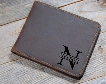 Personalized Cowhide Wallet, personalized Wallet, Groomsmen, Personalized cowhide leather Wallet, leather credit card wallet