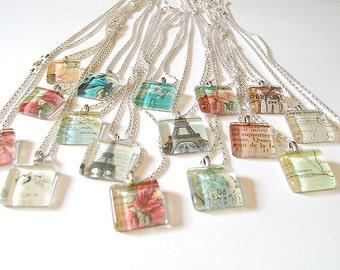 Vintage glass necklaces - (1)