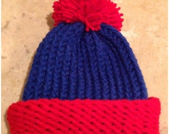 South Park Hat Stan Marsh Hat Stan Hat Red And Blue Preemie Baby Infant Toddler Child's Teen Adult Knitted Winter Hat