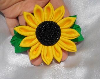 Sunflower kanzashi style