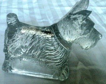 Hollow Glass Scottish Terrier