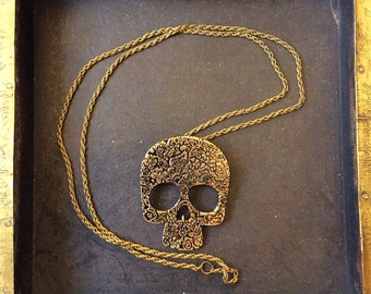 Bronze or Silver Day Of The Dead Charm Necklace