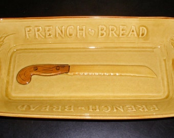 Vintage French Bread Loaf Dish - Los Angeles Potteries #325 (1960s) - Vintage Kitchenware