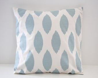 Decorative Pillow Cover, Home Decor, Ikat Decorative Pillows, Blue Ikat Pillow Sham, Pillow Sham, 18x18, Throw Pillow