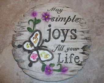 May Simple Joys Garden Stone