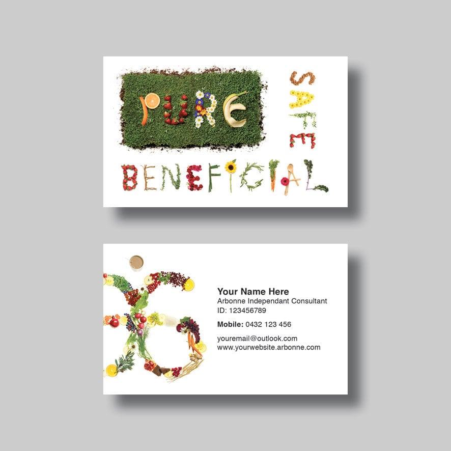 Arbonne Business Card Words Digital Design