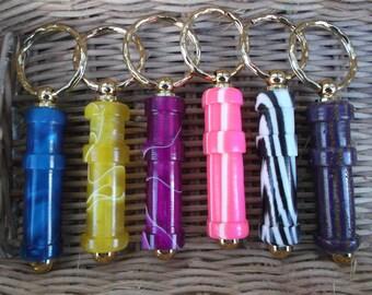 NEW Colours - WPI gauge keyring (wraps per inch) handturned