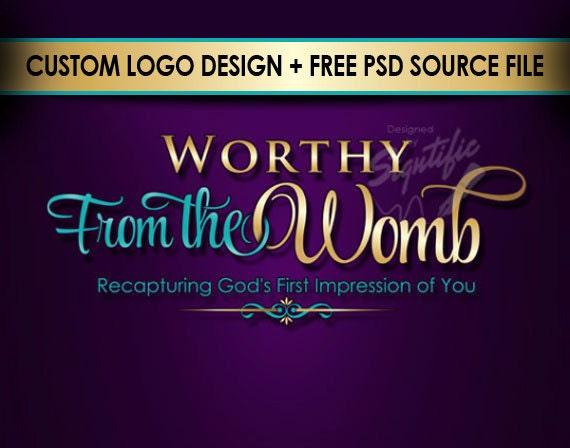 Super elegant logo - FREE PSD source file, custom church logo, elegant ministry logo design in any colors, business logo design