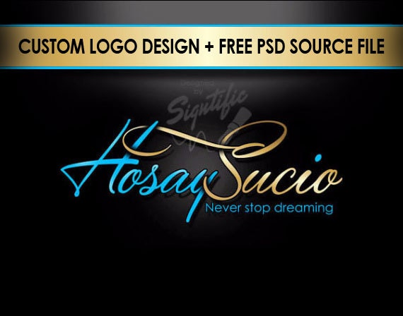 Unique Name Signature Logo Free Psd Source File Custom