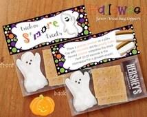 Halloween S'mores Treat Bag Toppers, DIY, Printable