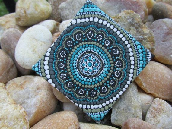 Seaside Tranquility Miniature Mandala Dot Art Mandala Boho