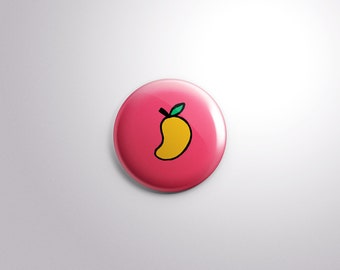 "1""/25mm Mango - Pakistani Indian Button Badge Pins"
