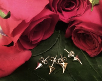 PAIR (LARGE) Every Rose has its Thorn Stud Earrings - *Robyn Chaos Jewellery*