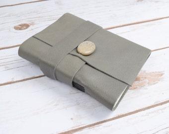 Custom Leather Journal - travel journal - sketchbook - grey journal - Handmade Journal - Writing Notebook - Diary - Gift for Him or Her