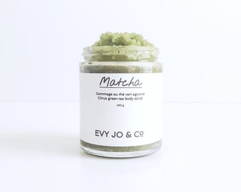 Body Scrub (Matcha) - Body Polish, Sugar Scrub, Salt Scrub, Organic Skincare, Bath and Beauty, Soaps, Bath Salts and Scrubs