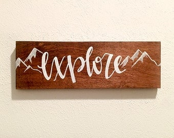 Wood Wall Decor | Explore | Hand Lettering