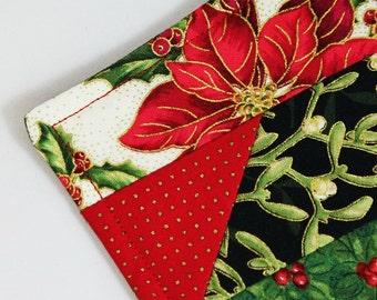 Christmas Holiday Coasters, Beverage Coasters, Coaster Set, Set of 4, Handmade Decorative Coasters, Secret Santa Gift