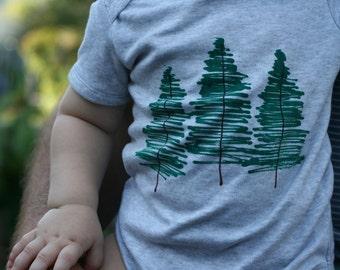 Babies TREES onesie - hand painted