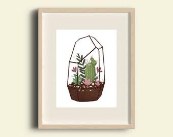 Floral Terrarium Mini Print