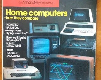 March 1979 issue of Popular Science Featuring the NEW Personal Computers of the Day ~Fun History !