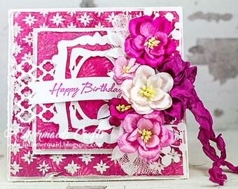 Handmade Happy Birthday Greeting ard