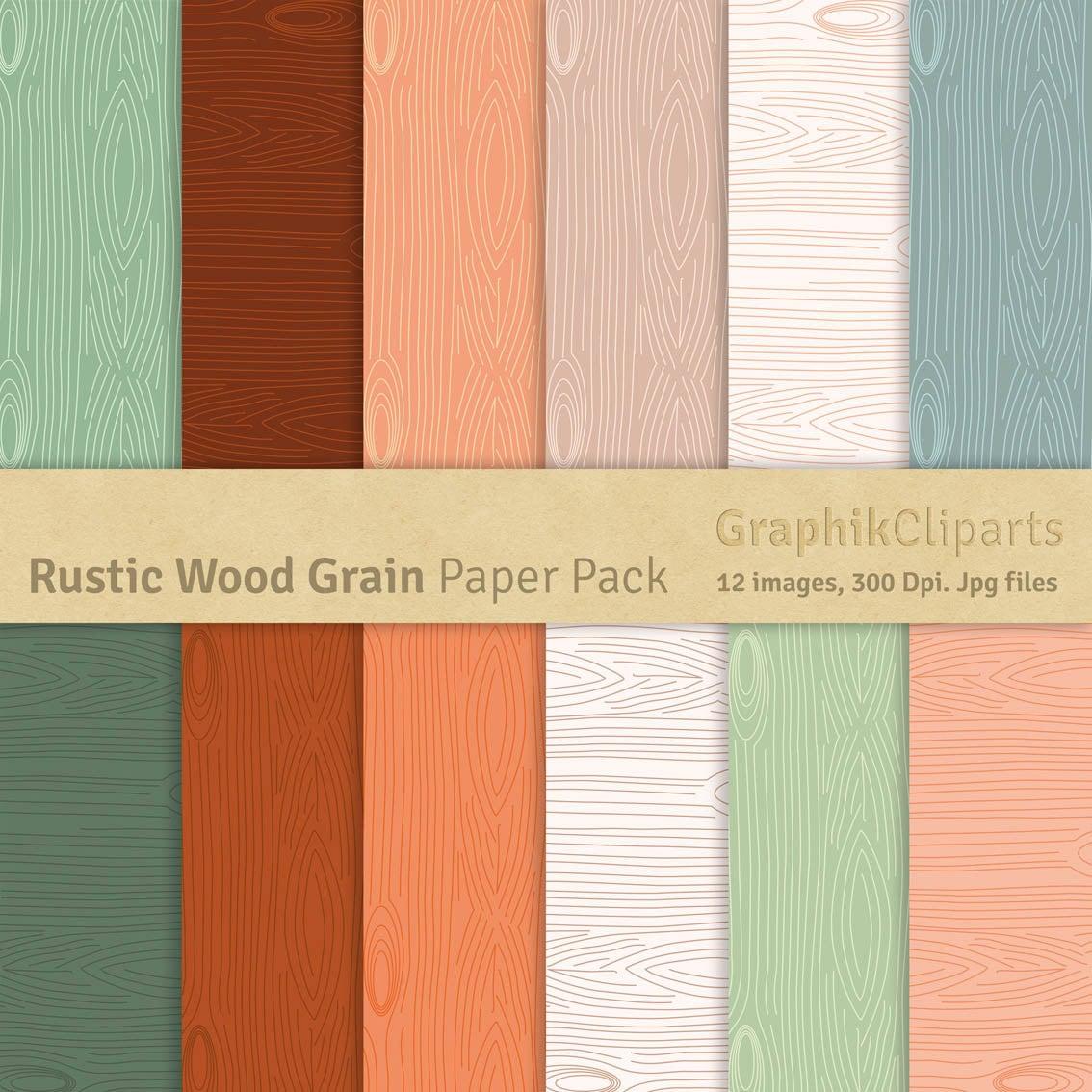 rustic wood grain paper pack wood grain wood texture