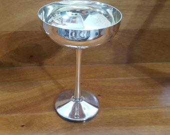 "Vintage Elegant Silver Plate Champagne Chalice/Goblet 6 1/8"", Italy"