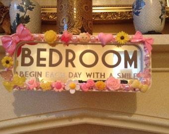 WINTER SALE! Bedroom Door Plaque