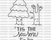 Digital stamp - Christmas jolly. digital stamp. christmas tree stamp. tree stamp. christmas pun. LiaStampz