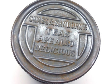 Chase and Sanborns Tea Tin