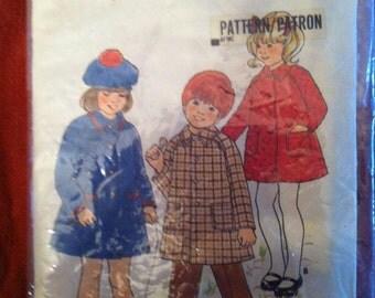 Butterick 4473 Pattern Children's Coat 1970s