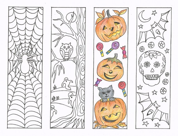 Nerdy image with free printable bookmarks to color pdf