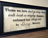 Sympathy Gift, In Memory of Sympathy Gift,  Memorial Gift, Sympathy Gift Mother, Sympathy Gift Father, Memorial Sign, M101