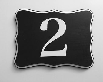 Number wood sign | Family Number wood sign