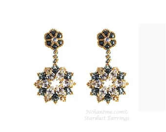 Stardust Earrings Tutorial Instant Download