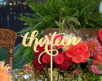 Reception Table Numbers - Set of 1-19 - Gold - Silver - DIY - Elegance Line