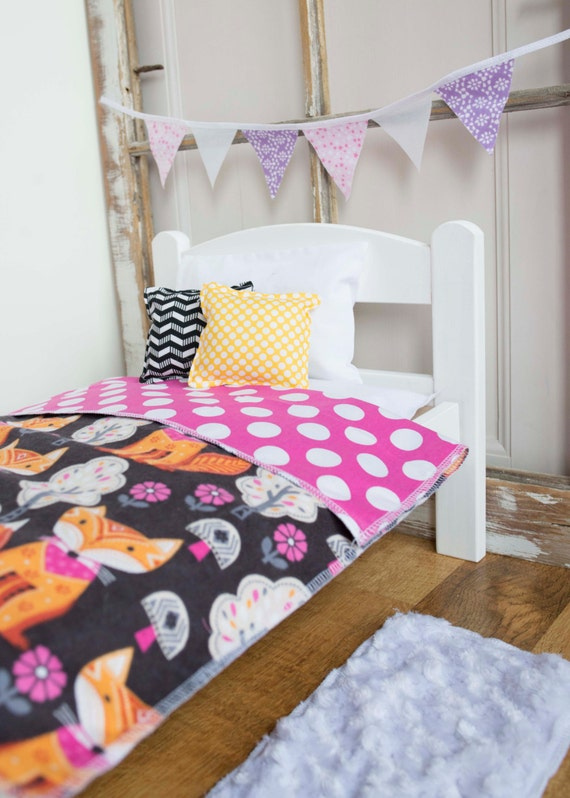 Items Similar To Fox Doll Bedding Doll Bed Bedding 18