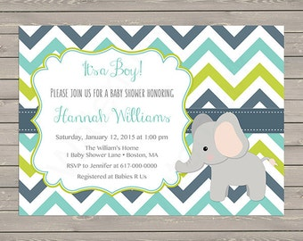 Little Man Baby Shower Invitation Boy Blue Bow Tie Baby Boy
