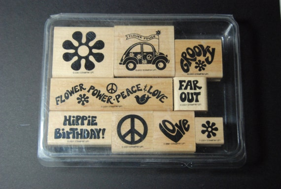 "Stampin Up 2001 ""Groovy"" Stamp Set"